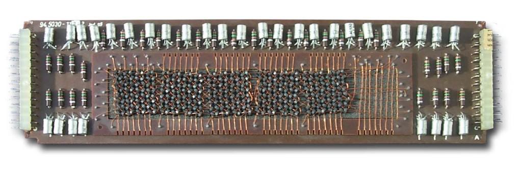 Kernspeicher aus einer Olympia-Rechenmaschine von 1968
