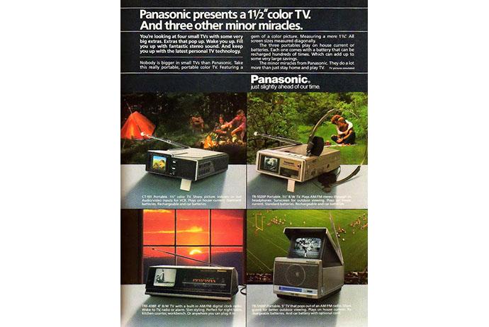 Bild des Tages: Panasonic Mini-TV