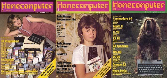 Bild des Tages: Homecomputer 6, 8, 10/83