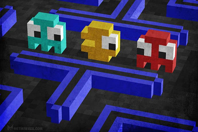 Metin Seven - Pixel Artwork - Pac Man