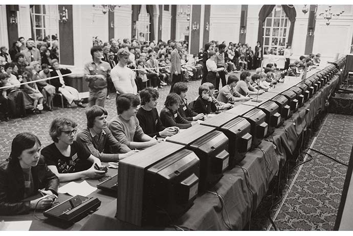 Space Invaders Tournament, New York, 1980