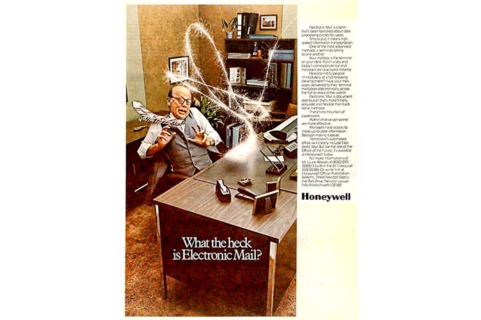 What the heck is electronic mail, 1977