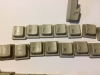 Ungereinigte und gereinigte Tastaturkappen