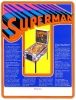 Flyer for Superman pinball game, Atari 1979