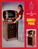 The unique Barrel PONG, made for the Australian market. Atari 1972